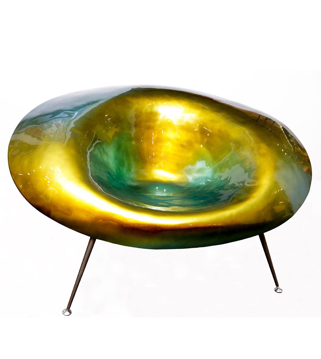 Msquare Gallery item Fauteuil en fibre de verre vert