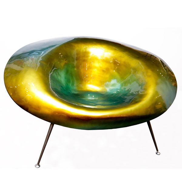 Msquare Gallery Product Fauteuil en fibre de verre vert