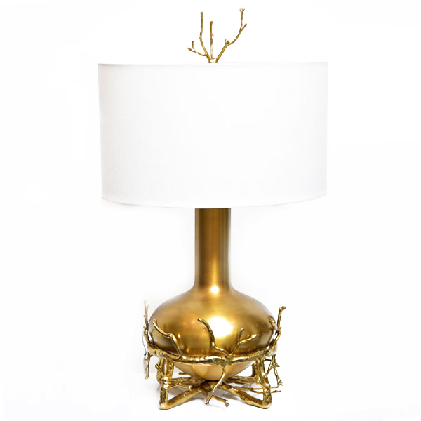 Msquare Gallery Product Fat Brass Twig Table Lamp
