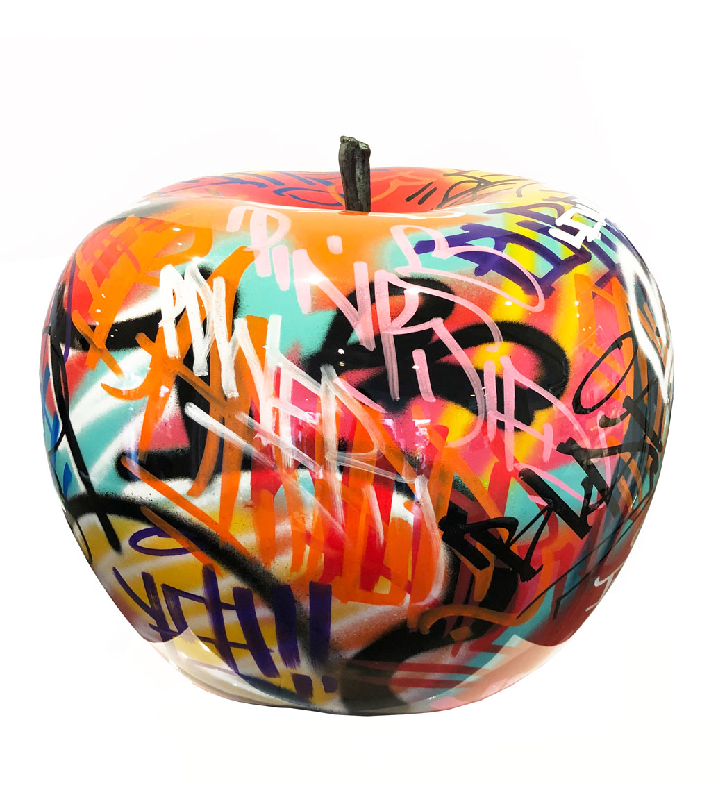 Msquare Gallery item Polyresin Graffiti Apple