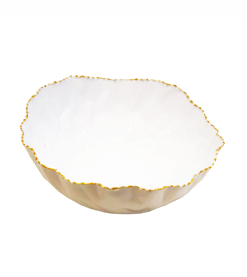 Msquare Gallery item Small Slanted Bowl Glossy White