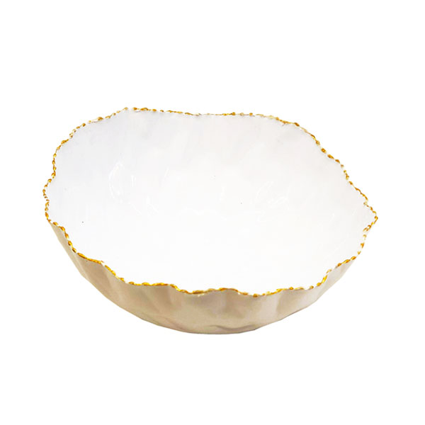 Msquare Gallery Product Small Slanted Bowl Glossy White