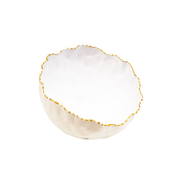 Msquare Gallery Product Slanted Uneven Bowl glossy White